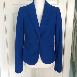 The Limited Blue Textured Fabric Blazer, Small